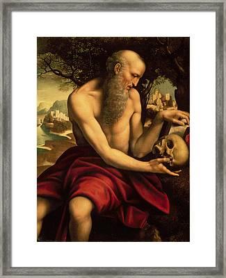 Saint Jerome Framed Print by Cesare de Sesto