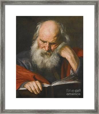 Saint Jerome Framed Print by Pier Francesco