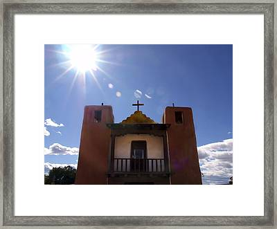 Saint Jeromes Chapel Taos Pueblo Framed Print by Kurt Van Wagner
