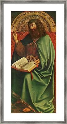 Saint John The Baptist   Framed Print by Jan Van Eyck
