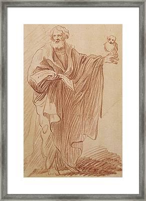 Saint John The Evangelist Framed Print by Edme Bouchardon