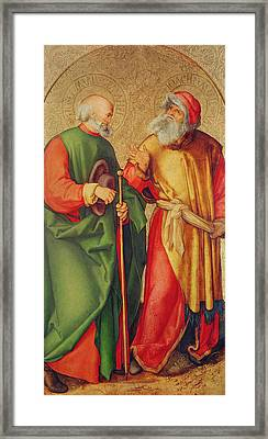 Saint Joseph And Saint Joachim Framed Print by Albrecht Durer or Duerer