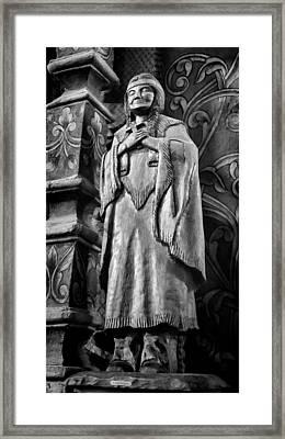 Saint Kateri Tekakwitha - Bw Framed Print by Stephen Stookey