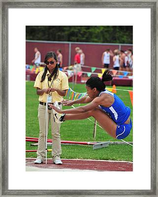 Saint Louis Long Jumper Framed Print by Mike Martin