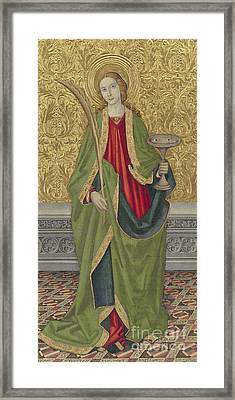 Saint Lucy Framed Print by Jaume the younger Vergos