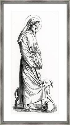 Saint Margaret Of Cortona Framed Print by French School
