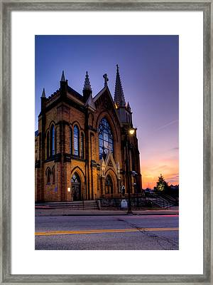 Saint Mary Of The Mount Framed Print by David Hahn