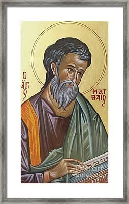 Saint Mathew Framed Print by George Siaba