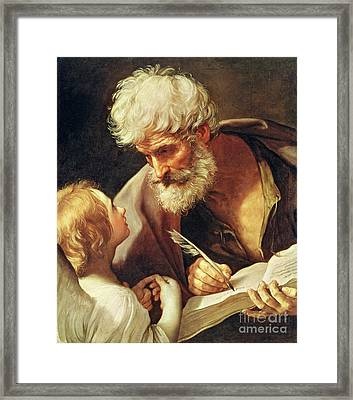 Saint Matthew Framed Print by Guido Reni
