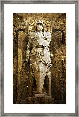Saint Michael Framed Print by Marc Huebner