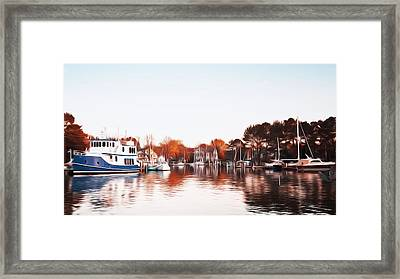 Saint Michael's Harbor Framed Print by Bill Cannon