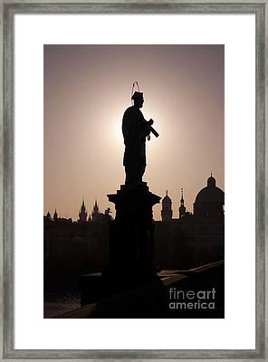 Saint Framed Print by Michal Boubin