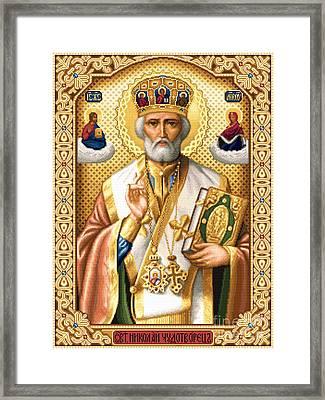 Saint Nicholas Framed Print by Stoyanka Ivanova