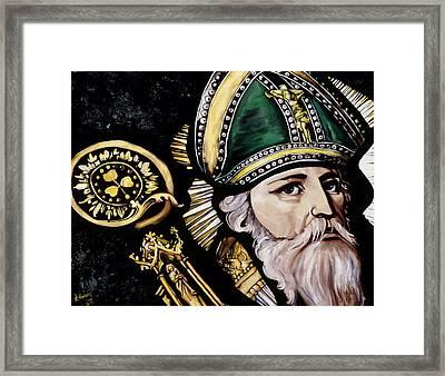 Saint Patrick Framed Print by Leeann Stumpf
