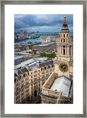 Saint Paul's Cathedral View Framed Print by Inge Johnsson