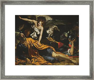 Saint Peter Incarcerated Framed Print by Giovanni Francesco Guerrieri