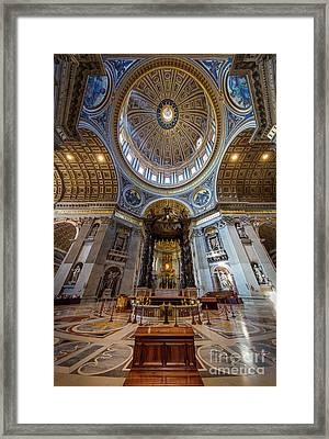 Saint Peter's Grandeur Framed Print by Inge Johnsson