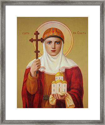 Saint Princess Olga Framed Print by Svitozar Nenyuk