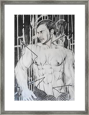 Saint Sebastian  2 Framed Print by Carmine Santaniello