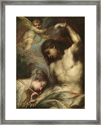 Saint Sebastian Framed Print by Andrea Celesti