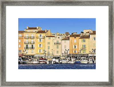 Saint-tropez Waterfront Framed Print by John Greim