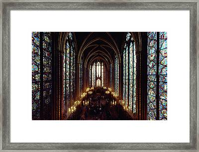 Sainte-chapelle Interior Showing Framed Print by James L. Stanfield