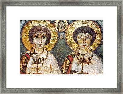 Saints Sergius And Bacchus Framed Print by Granger