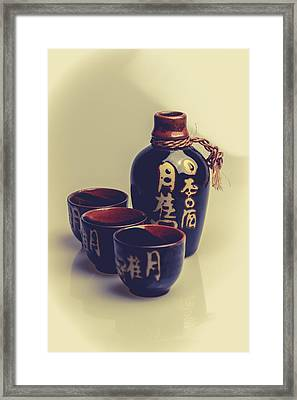 Sake Framed Print by A Souppes