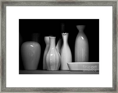 Sake Bottles Framed Print by Rich Governali