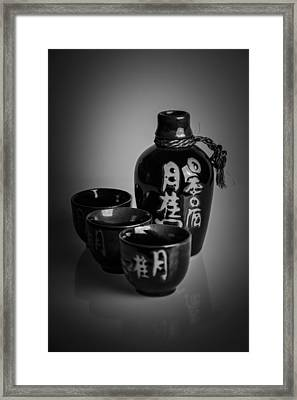 Sake Set Framed Print by A Souppes
