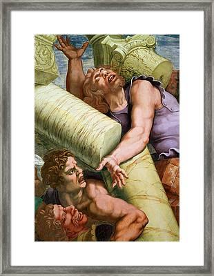 Sala Dei Giganti Framed Print by Giulio Romano