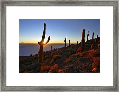 Salar De Uyuni Tour 55 Framed Print by Skip Hunt