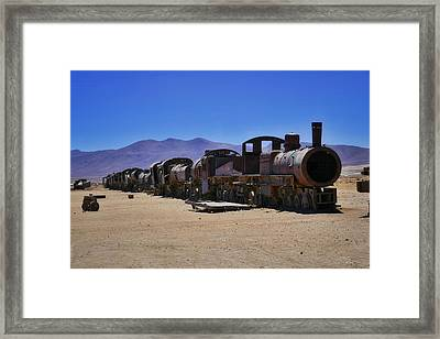 Salar De Uyuni Tour 67 Framed Print by Skip Hunt