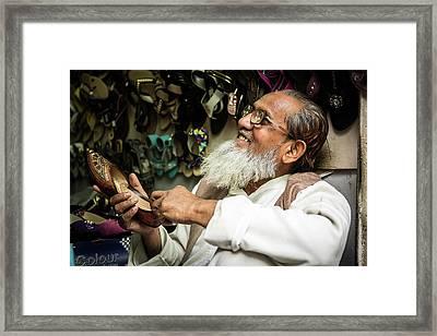 Salesman Framed Print by Michael Weber