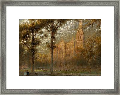 Salisbury Cathedral Framed Print by Albert Goodwin
