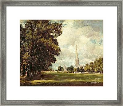 Salisbury Cathedral From Lower Marsh Close Framed Print by John Constable