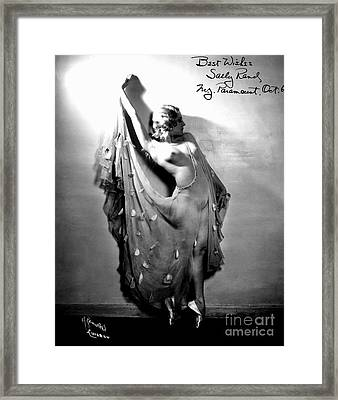 Sally Rand (1904-1979) Framed Print by Granger