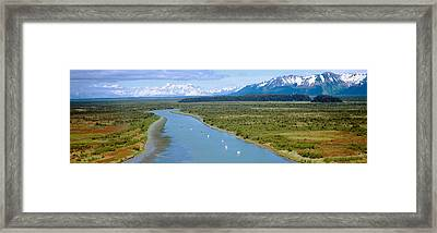 Salmon Fishing Boats At Wrangell-st Framed Print by Panoramic Images