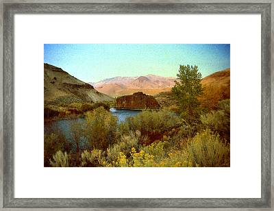 Salmon River Idaho - Landscape Framed Print by Art America Online Gallery