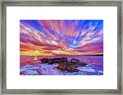 Salmon Sunrise Framed Print by Bill Caldwell -        ABeautifulSky Photography