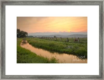 Salmon Sunrise Framed Print by Idaho Scenic Images Linda Lantzy