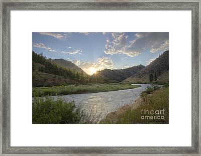 Salmon Sunset Framed Print by Idaho Scenic Images Linda Lantzy