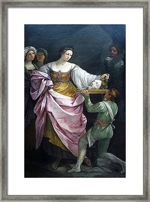 Salome With The Head Of Saint John Chicago Art Institute Framed Print by Thomas Woolworth
