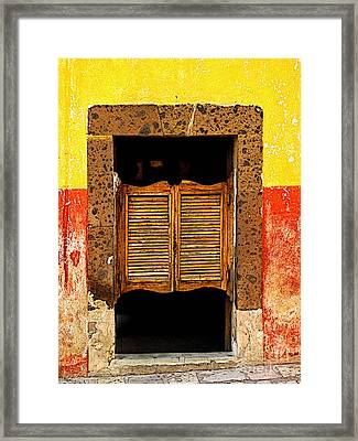 Saloon Door 1 Framed Print by Mexicolors Art Photography