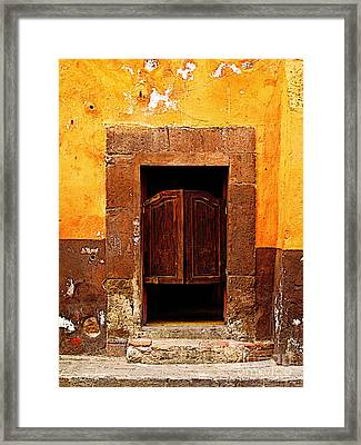 Saloon Door 5 Framed Print by Mexicolors Art Photography
