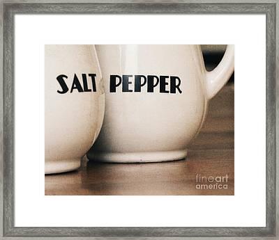 Salt And Pepper Framed Print by Alison Sherrow