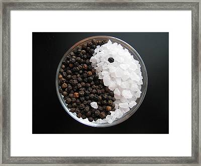 Salt And Pepper Yin And Yang Framed Print by Lindie Racz