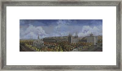 Salt Lake City Temple Square Nineteen Twelve  Framed Print by Jeff Brimley