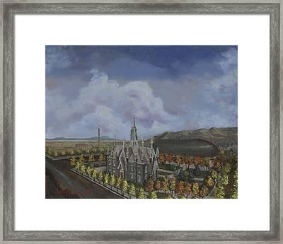 Salt Lake City Temple Square Nineteen Twelve Left Panel Framed Print by Jeff Brimley