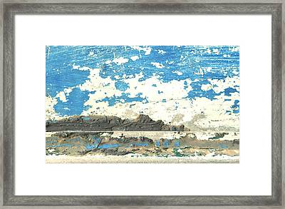 Salt Lake In Abstract Framed Print by Sharon Eng